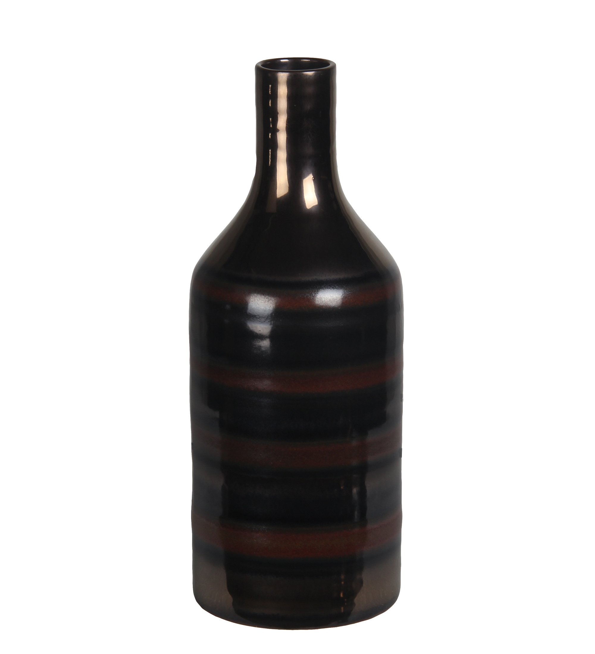 Privilege Contemporary Ceramic vase With Brown Finish 78215