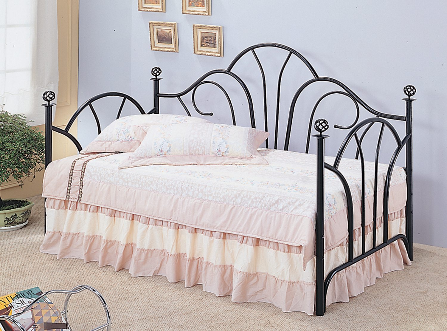 Coaster Metal Traditional Black Daybed 2613 | eBay