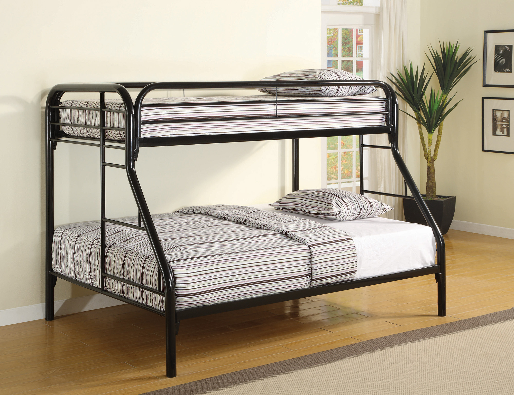 Coaster Contemporary Metal Twin And Full Bunk Bed