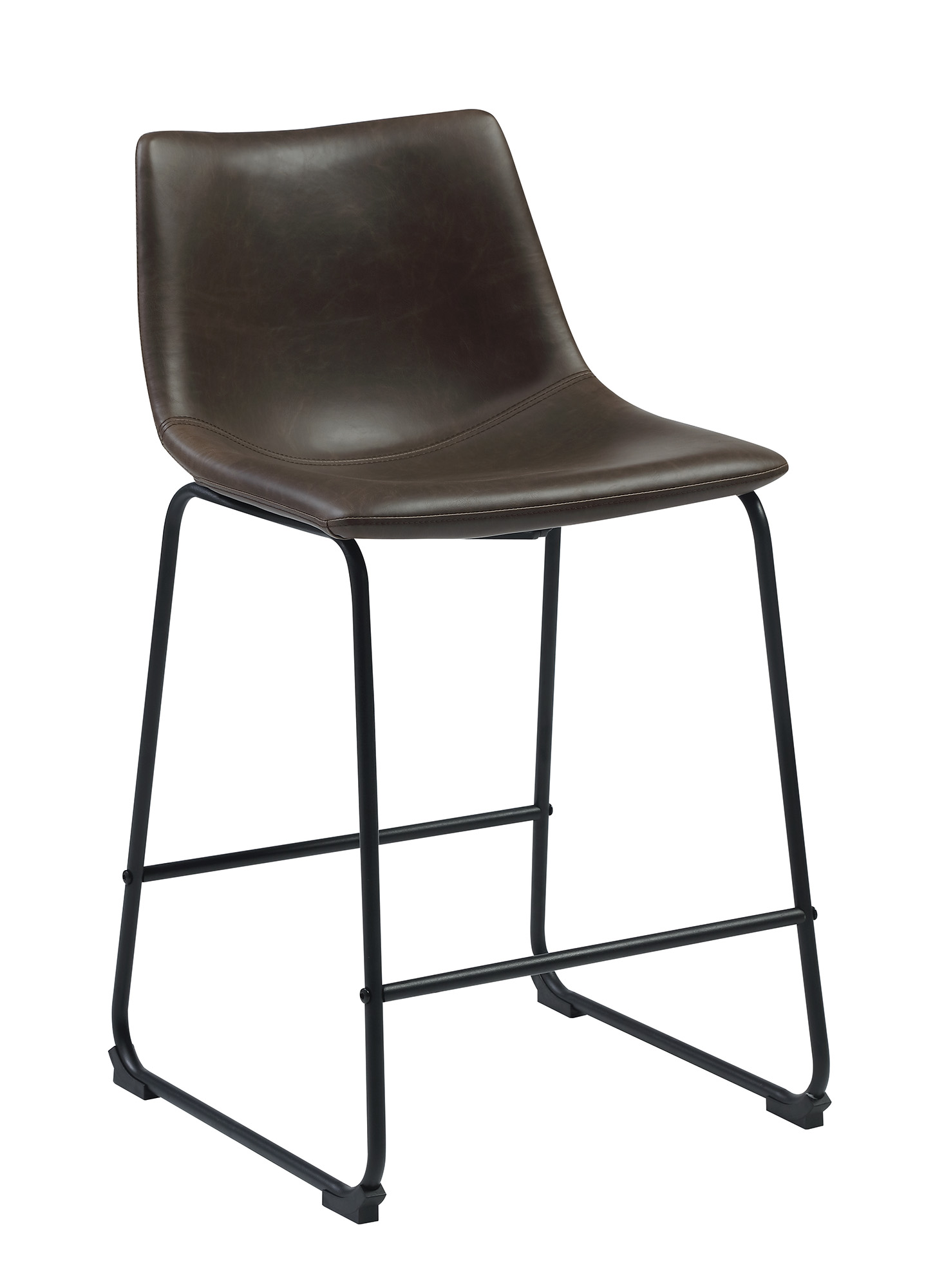 Strange Details About Coaster Metal And Leatherette Bar Stool With Two Tone Brown Finish 102535 Dailytribune Chair Design For Home Dailytribuneorg