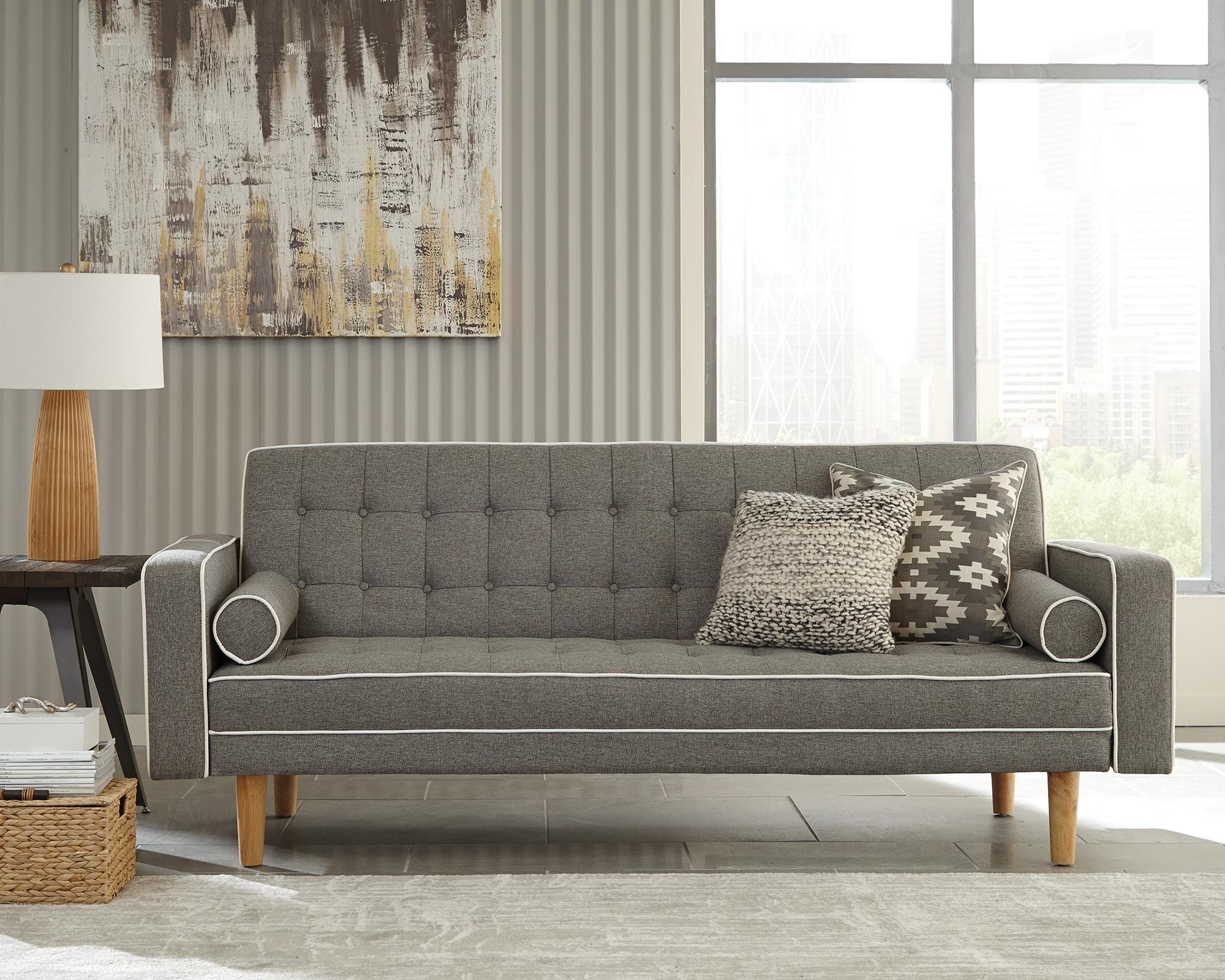 Coaster Fabric Sofa Bed With Grey Finish 360022 Ebay # Muebles Coaster