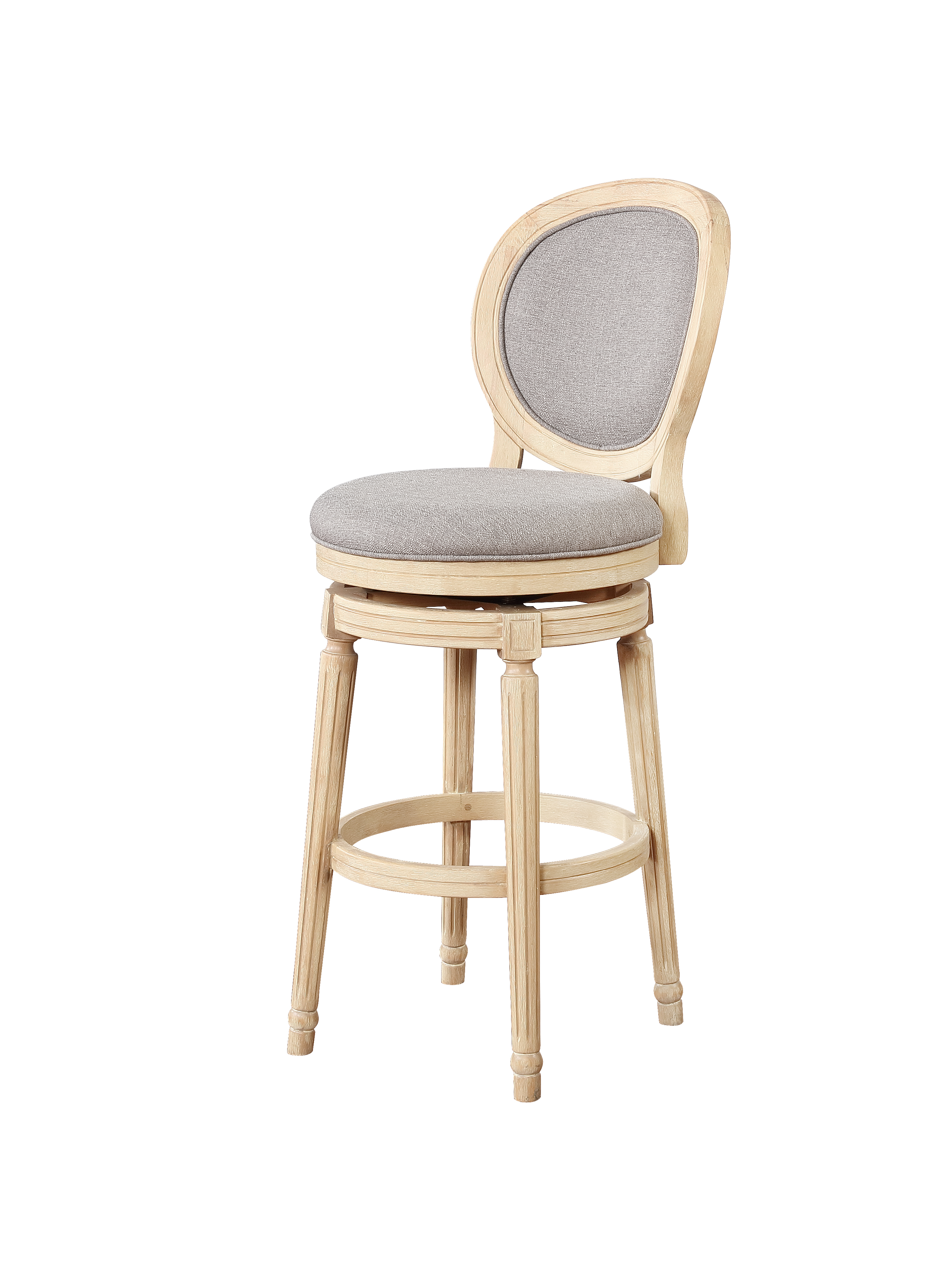 Pleasant Linon Wood And Foam And Fabric Bar Stool In White Wash Finish Bs024Ash01U Ncnpc Chair Design For Home Ncnpcorg