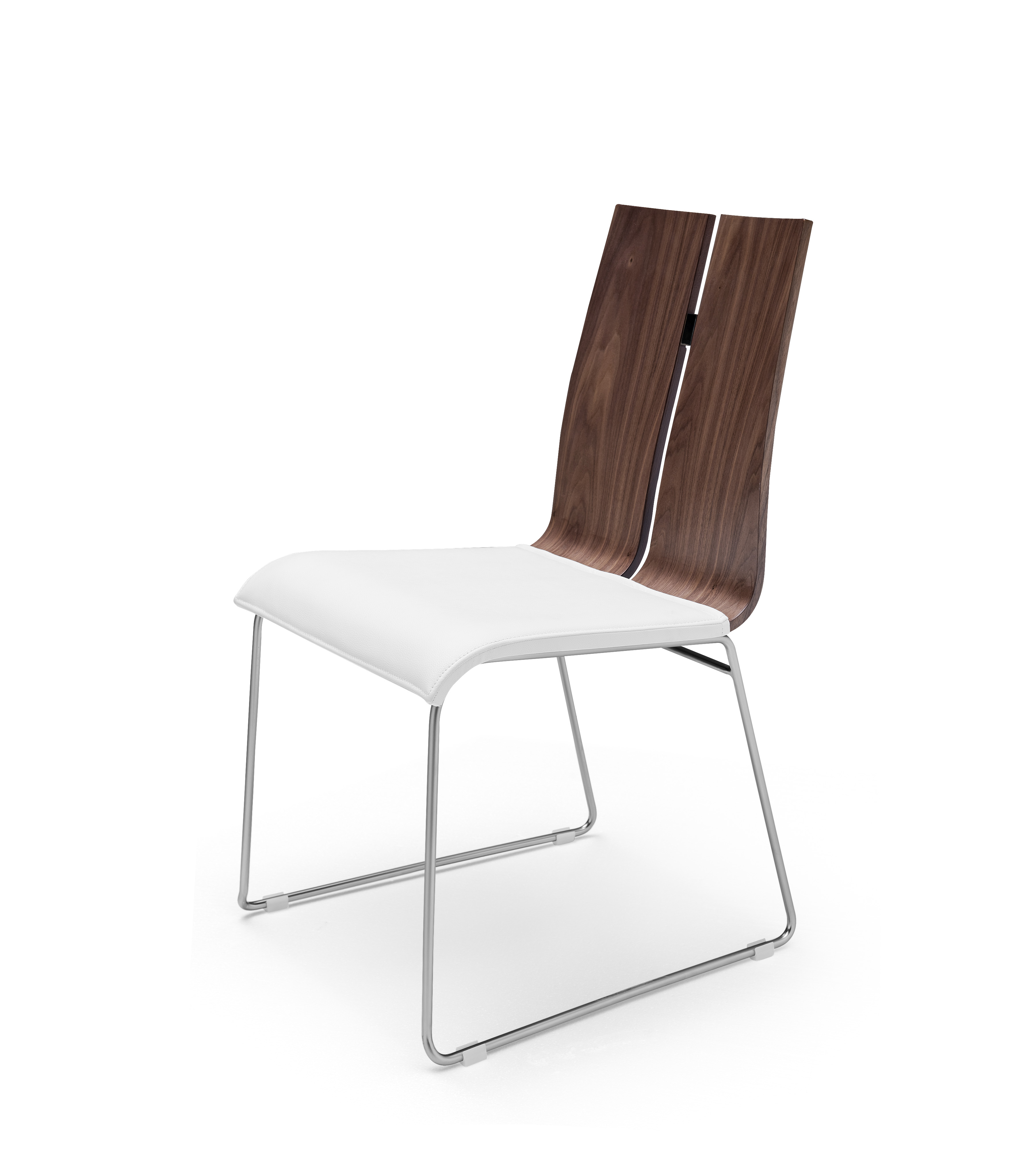 whiteline lauren set of 2 dining chair and natural walnut dc1191-wlt-wht
